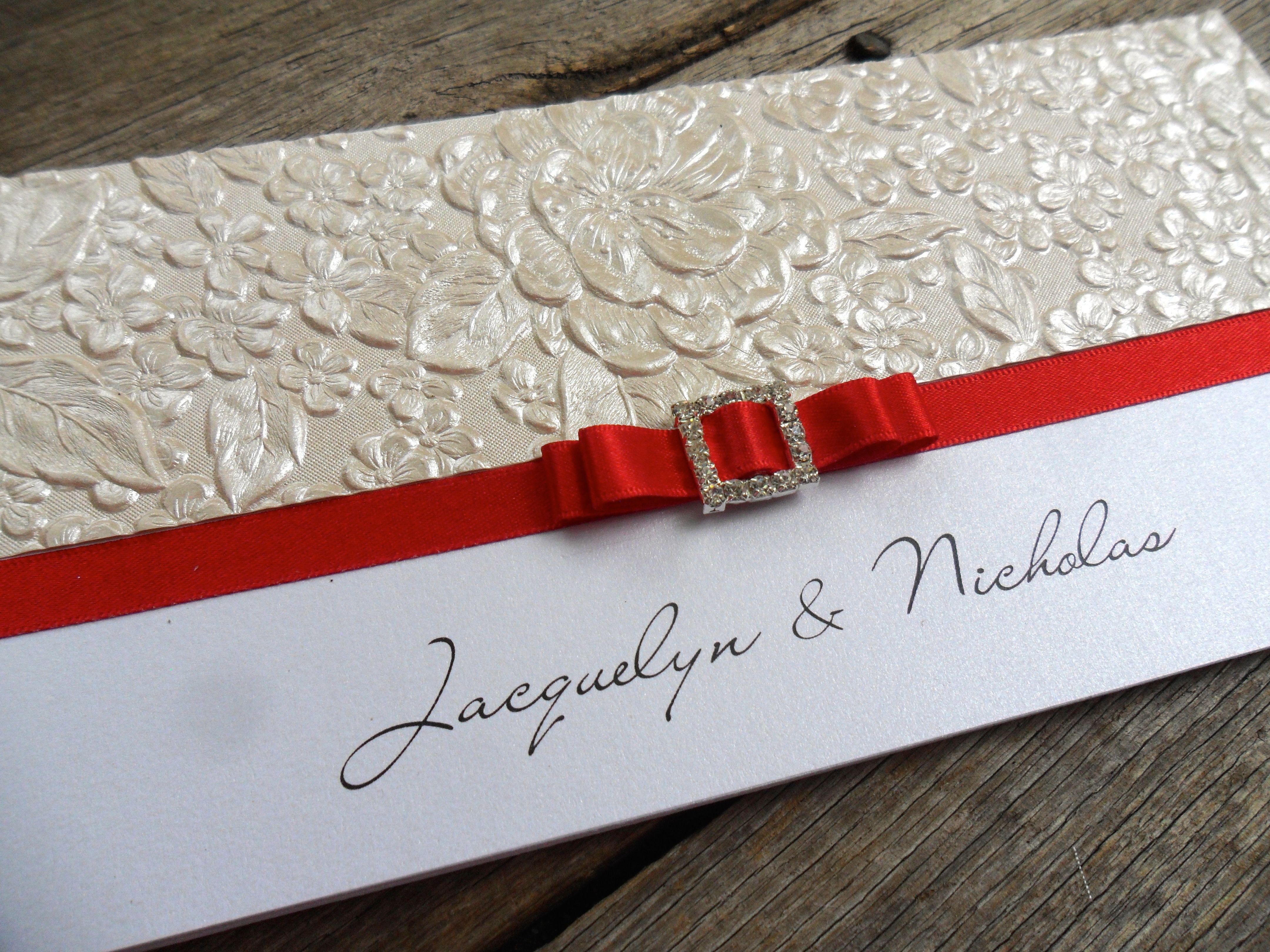 diy wedding invitations elegant%0A Champagne  u     Red wedding invitations