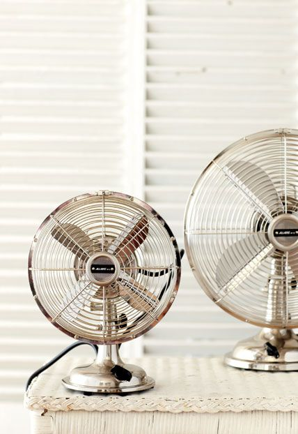 Restoration Hardwareu0027s Retro Table Fans Do The Work Of A Summer Breeze On A  Muggy Day