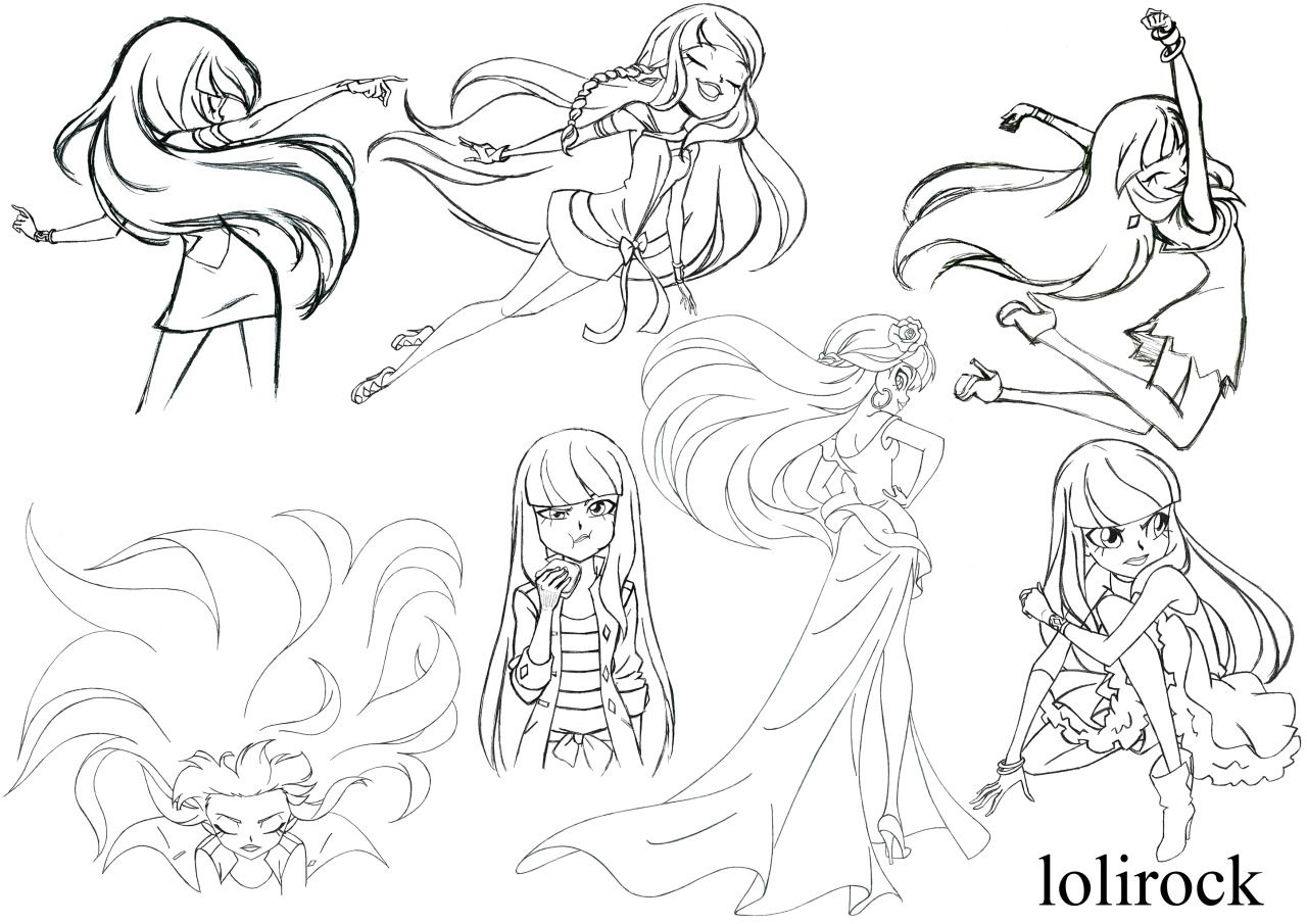 Coloriage Lolirock Iris Shanila Manga | 30000 ...