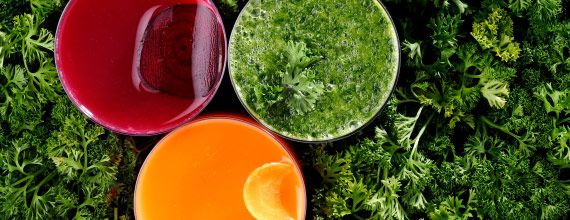 Juicing for Radiance:  Vit A - carrots, kale, oranges, melons, apricots, peaches, tangerines; Vit B2 - almonds, chilies, radishes, parsley, lychee; Vit B3 - red/green peppers, mushrooms, sunflower seeds; Vit B6 - spinach, avocado, bananas, collard greens, cabbage, bell peppers, onions, garlic; Vit C - kiwi, papaya, bell peppers, strawberries, blueberries, oranges, lemon juice, broccoli, kale, prickly pear, parsley; Omega 3 & 6 - hemp, flax seed, coconut oil  @myvega.com