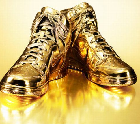 Gold Digger Trainers | Gold nike shoes