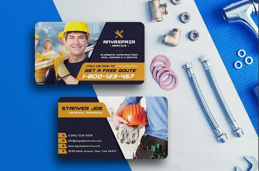 Plumbing Business Cards Design Templates Texty Cafe Business Cards Creative Templates Business Card Design Business Card Template Design