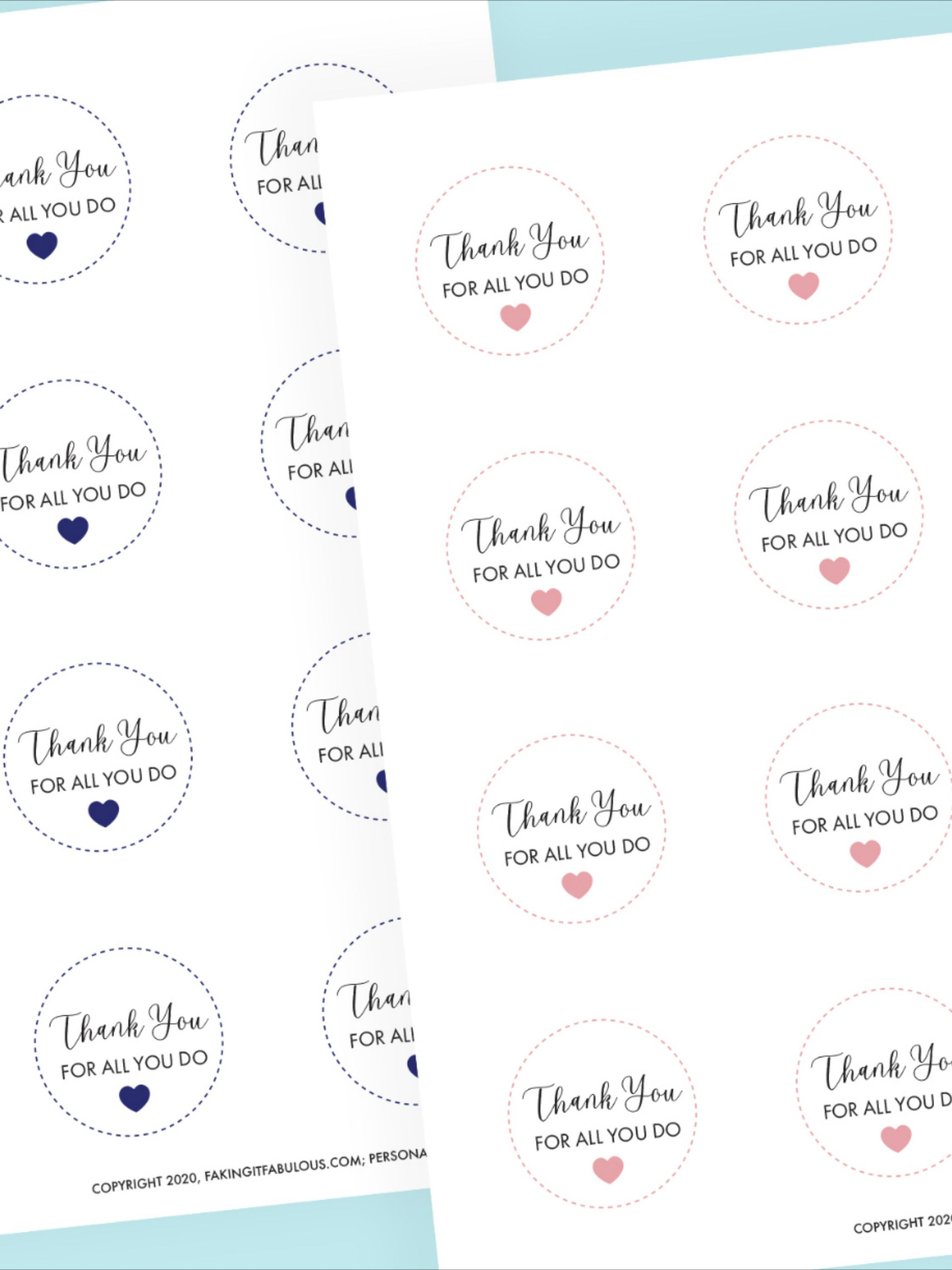 Free Healthcare Worker Appreciation Tags for Care Packages