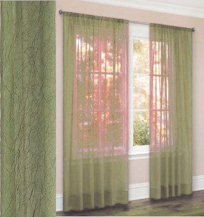 63 long crushed sheer curtain panel