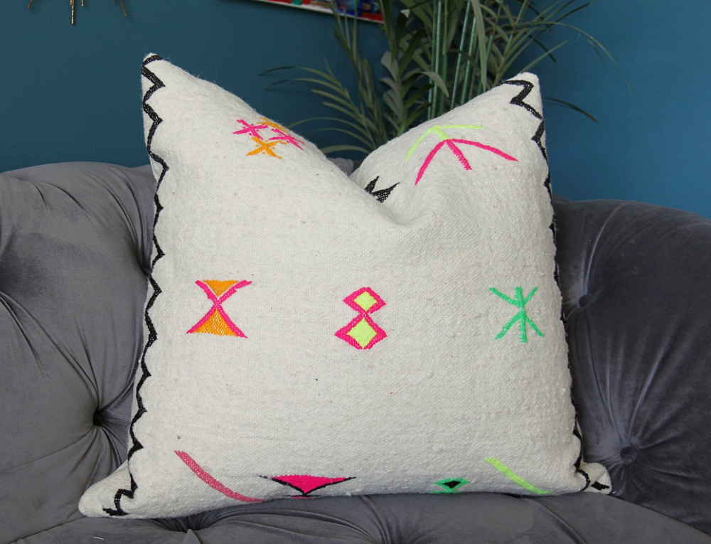 Tribal Pillow Cover 24 African Pink Orange Yellow Etsy Tribal Pillow Covers Tribal Pillow Floral Pillow Cover