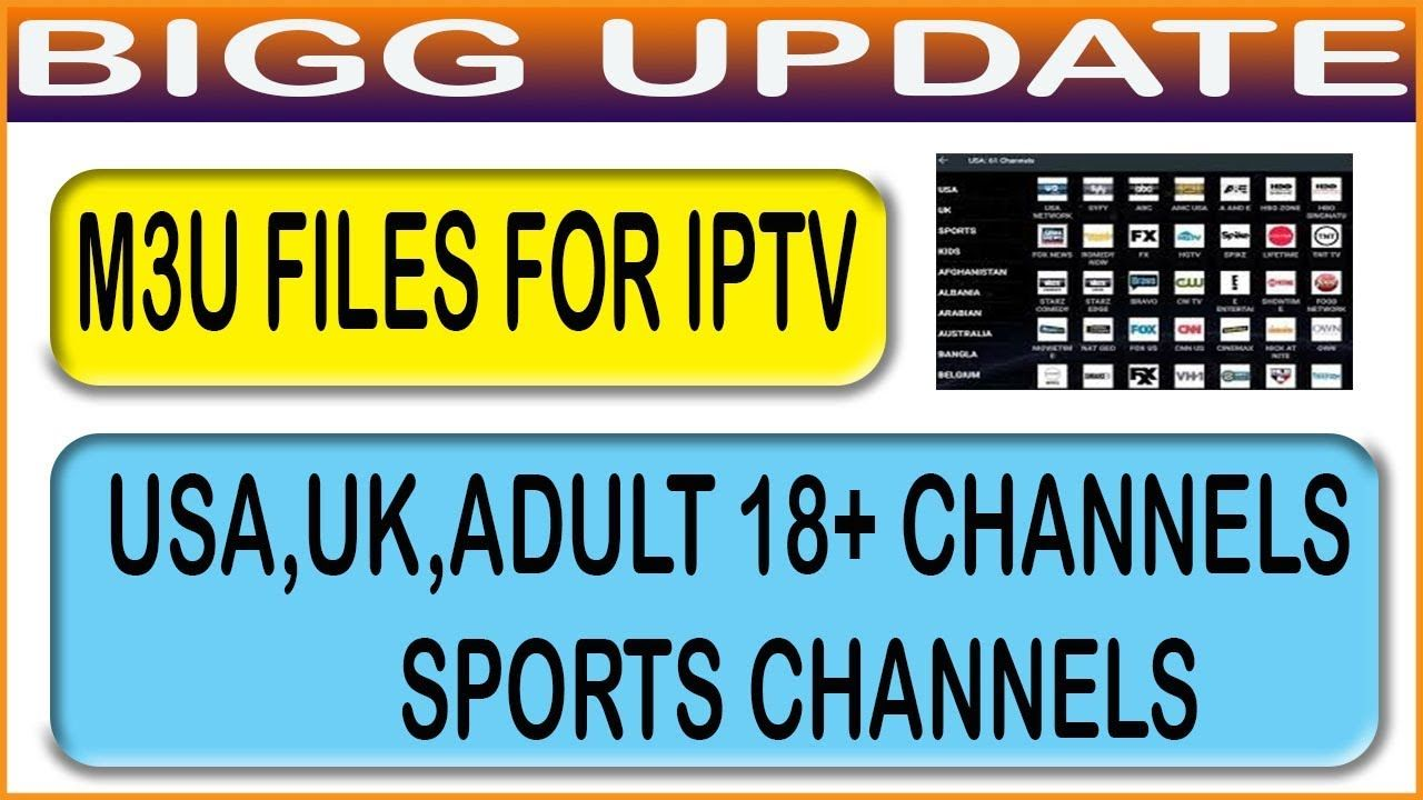 M3U FILES FOR IPTV USA UK ADULT 18 CHANNELS SPORTS ...