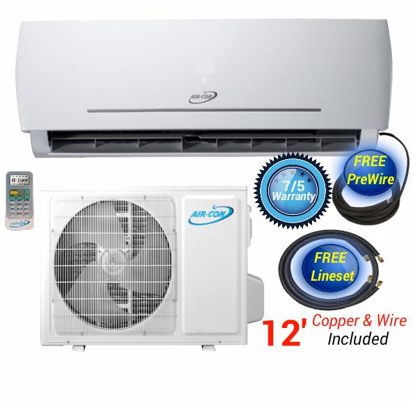 AirCon 12000 220V MiniSplit Heat Pump in