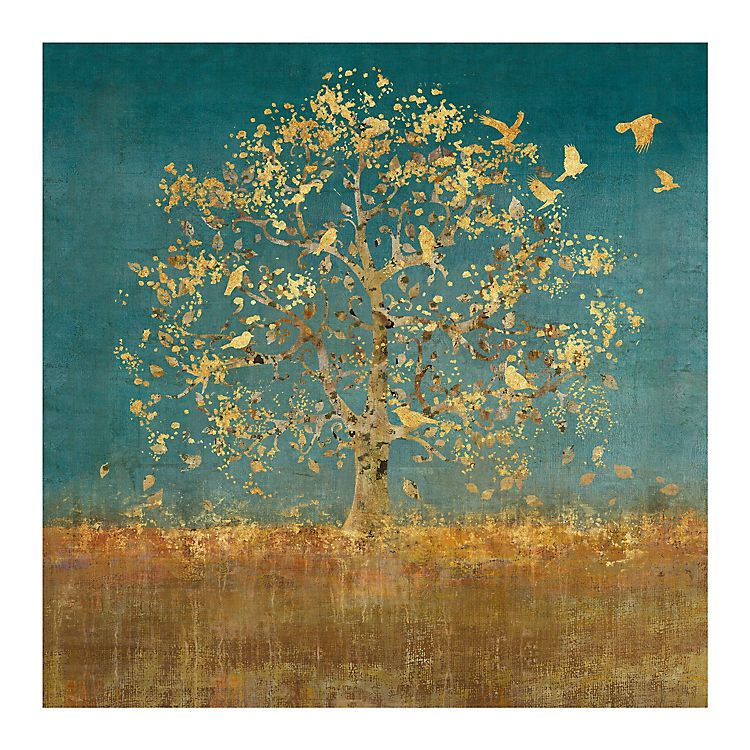 Golden Birds Tree Canvas Art Print | Kirklands | Wall Decorations ...