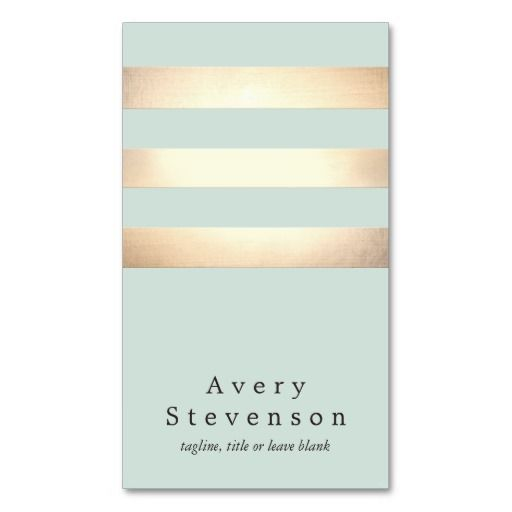 Cool modern faux gold and blue stripes business card estheticians business cards accmission Gallery