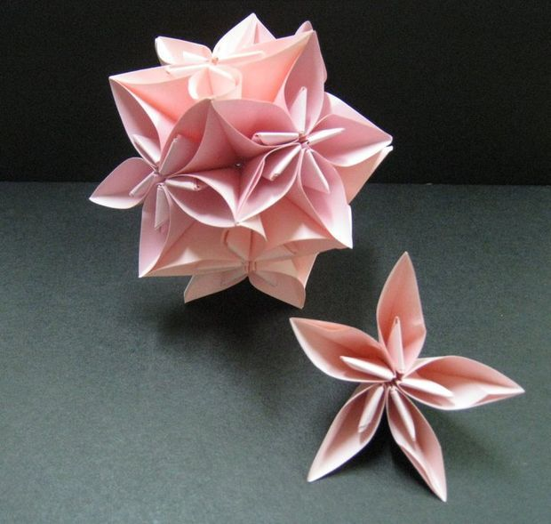 Flower origami ball flower ball origami ball and oragami star flower origami ball mightylinksfo