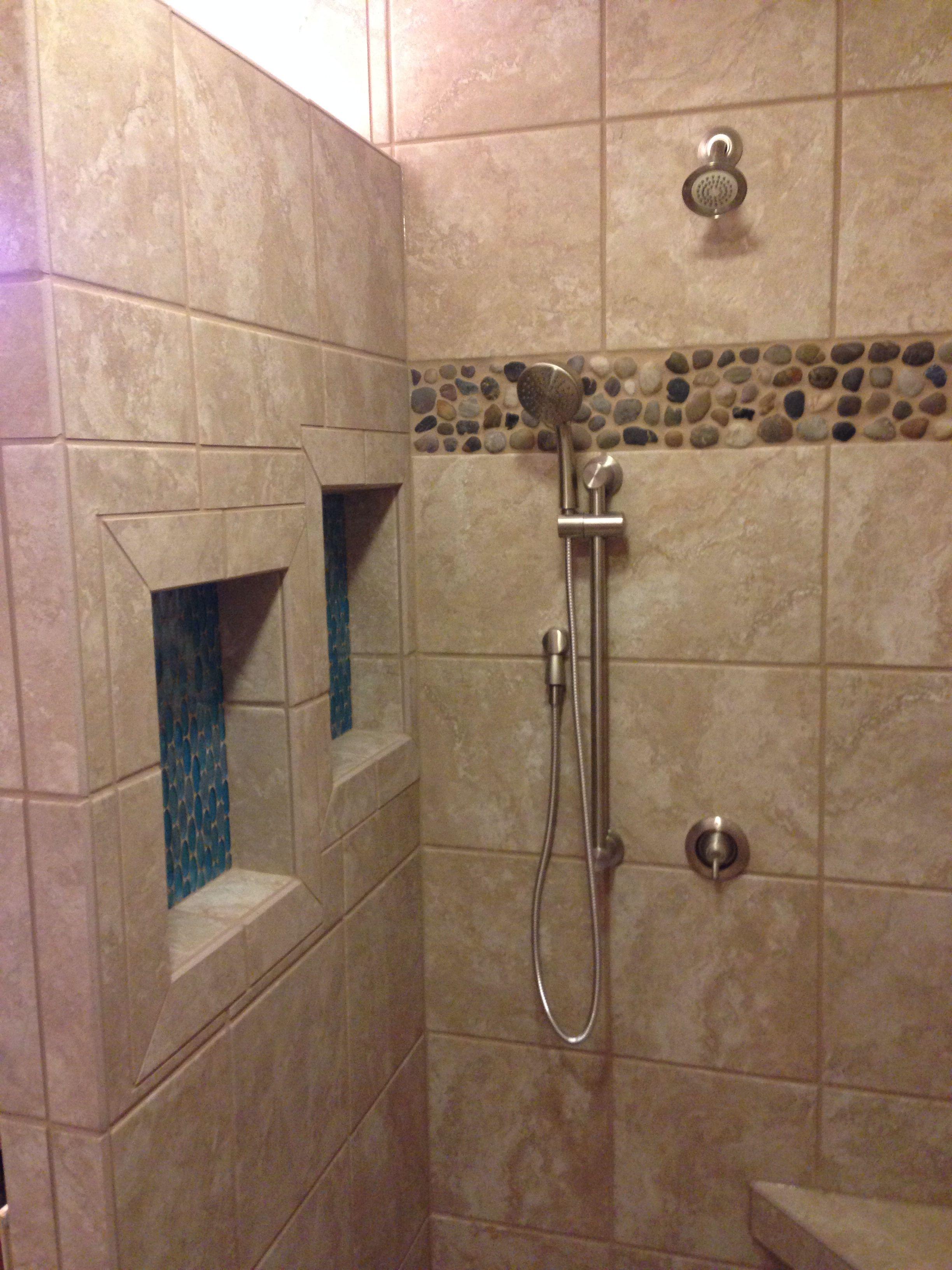 waterfall bathroom tile love this look