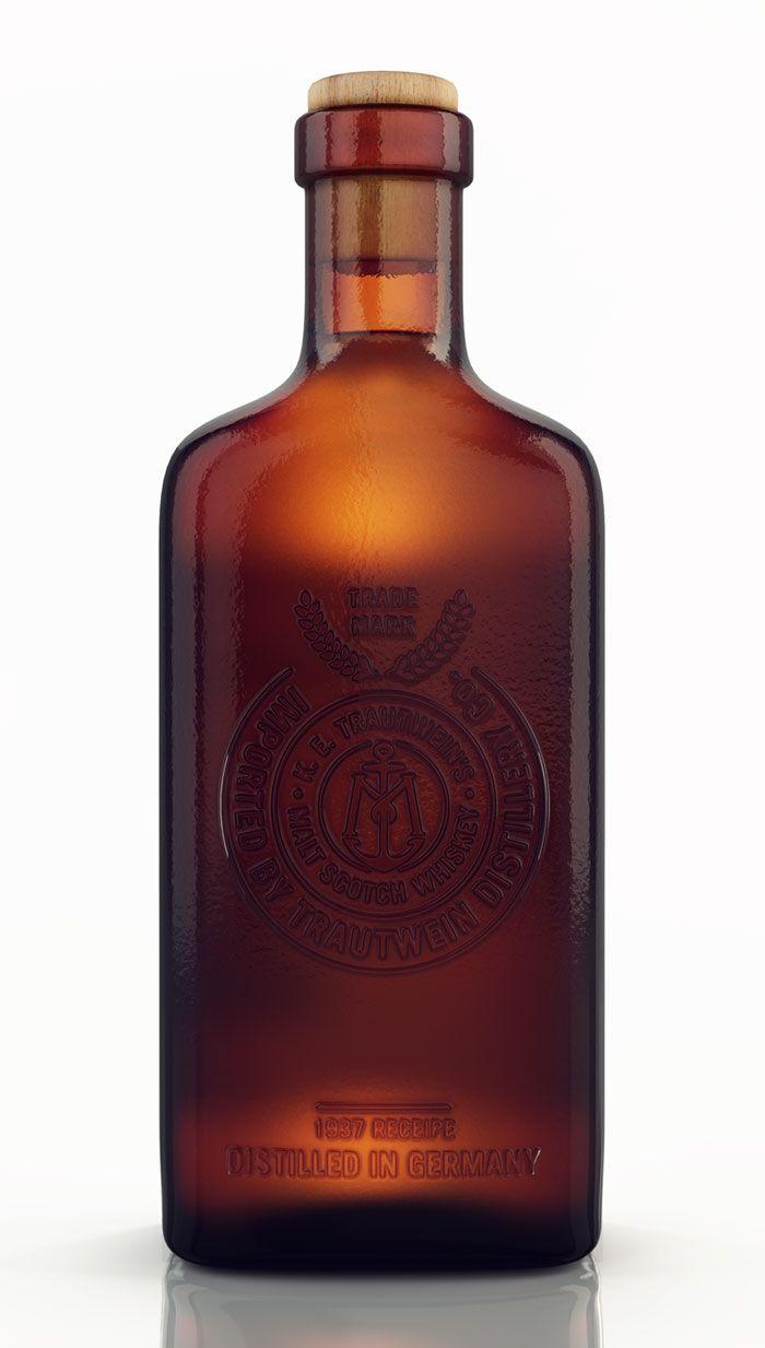Migrant Whiskey Bottle Packaging Design