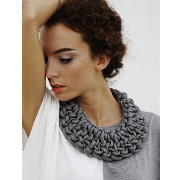 Knot bib necklace | alienina $169 big seller