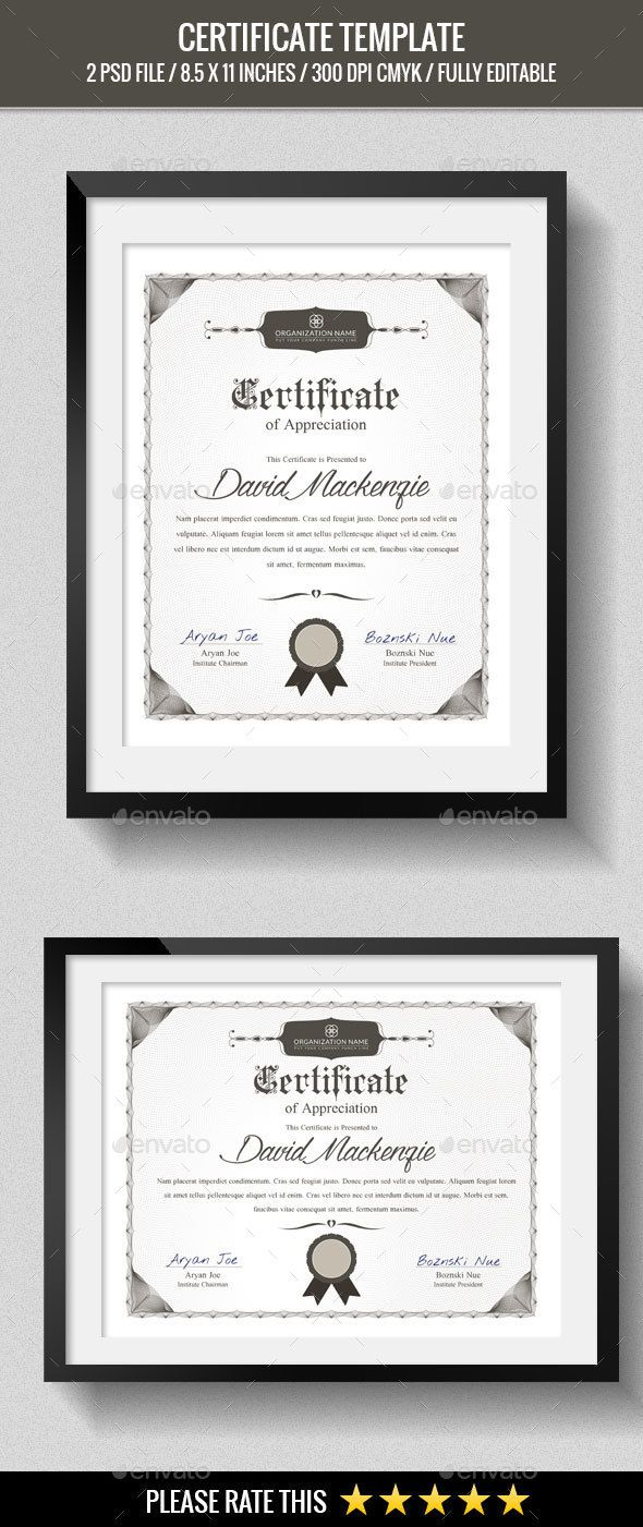 Multipurpose Certificates Template  Certificate Templates