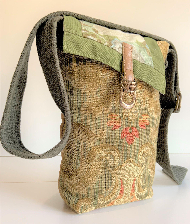 One of a Kind Bag Handmade Satchel Shoulder Bag Shoulder Tote Unique Gift Shoulder Tote Bag Crossbody Bag Fabric Tote Gift for Her