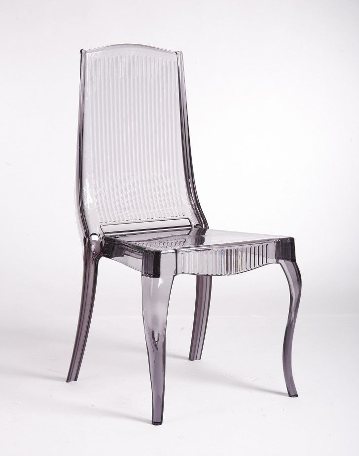 Furniture 6 Stunning Lucite Dining Chairs Smoke Acrylic Chair