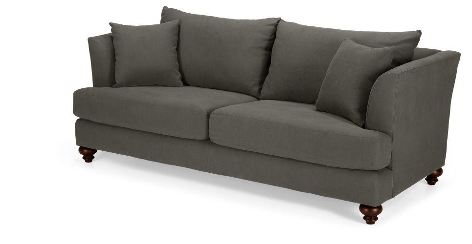 Elliott 3 Seater Sofa In Harrier Grey   Made.com