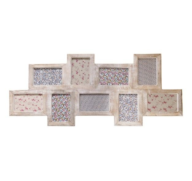 nine multi photo frame in white wood hanging photo frames sass belle