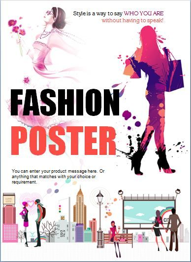 Modern Professional Fashion Poster Template Word Business - fashion design posters