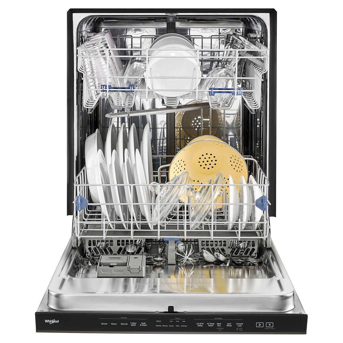 Pin By Lynn Benda On Lynn S Wish List Whirlpool Dishwasher Steel Tub Black Dishwasher