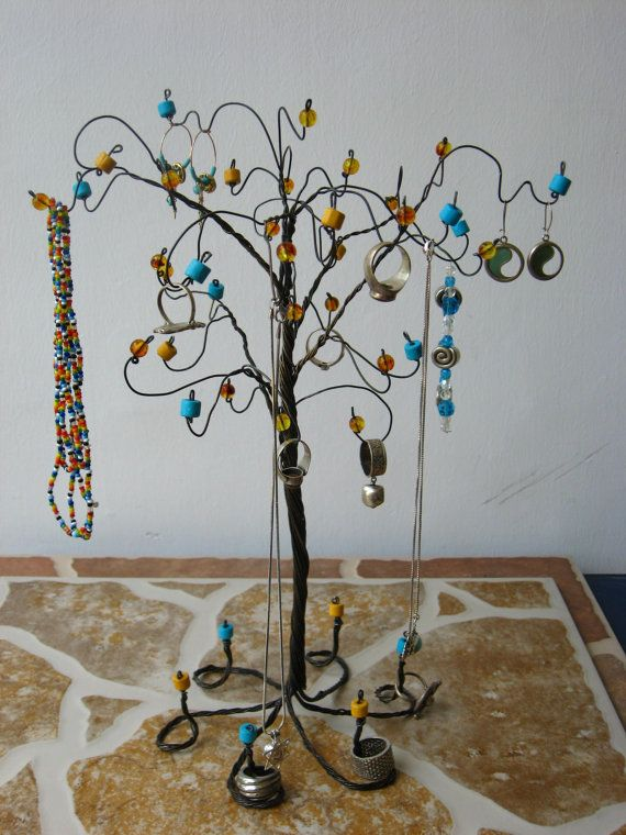 wire tree jewelry organizerjewelry standjewelry display brown
