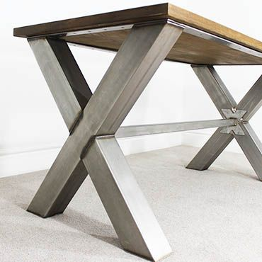 X Frame Industrial Office Desk | Tables, Industrial and Metals