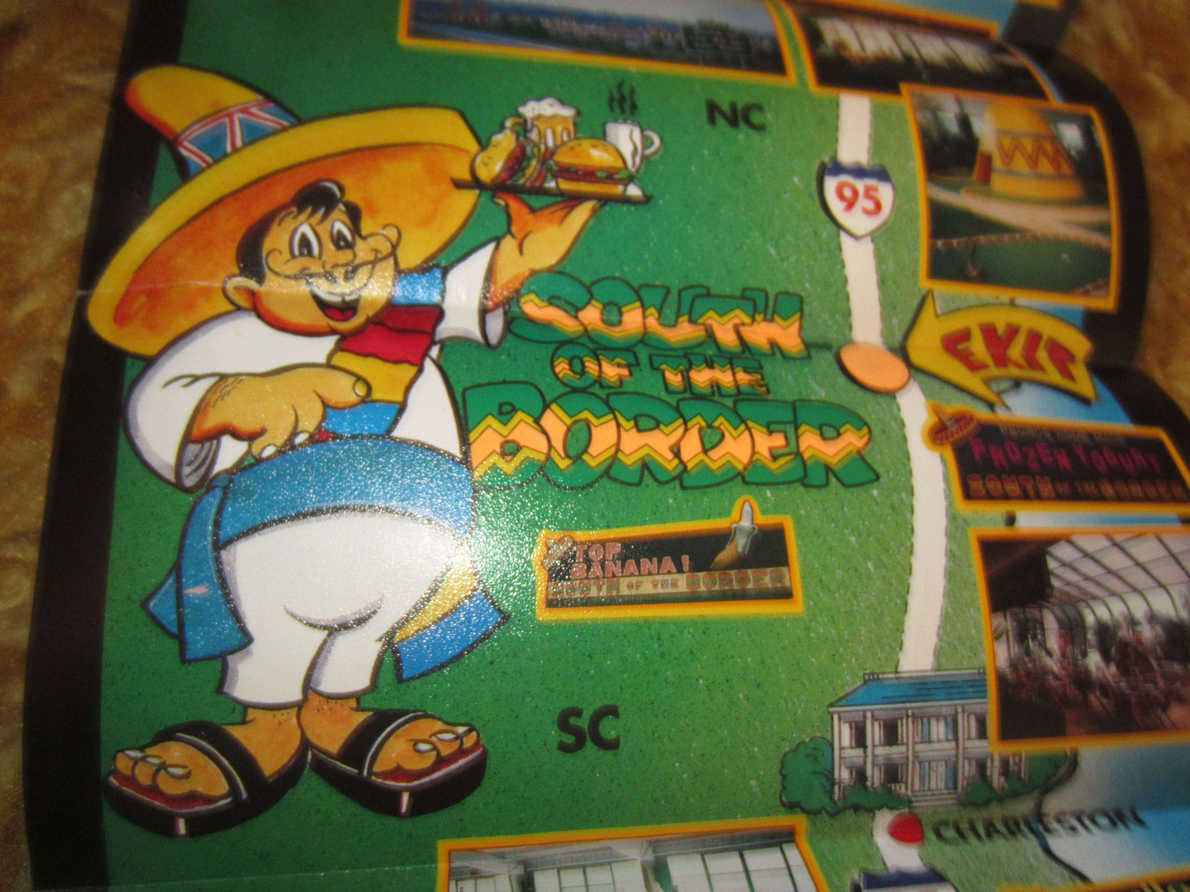 Vintage South Carolina's World Famous South of the Border Pedro kitschy Travel Brochure