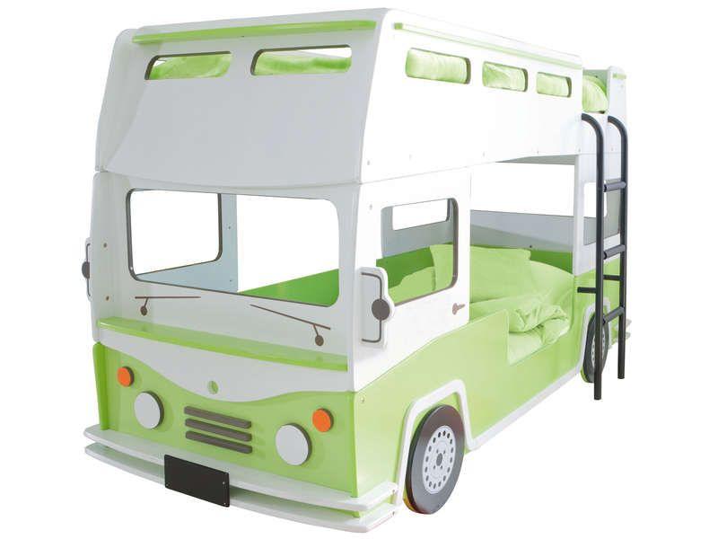 Lit Superposés Camion 90 X 190 Cm BUSSY   Lit Enfant Conforama   Iziva.com