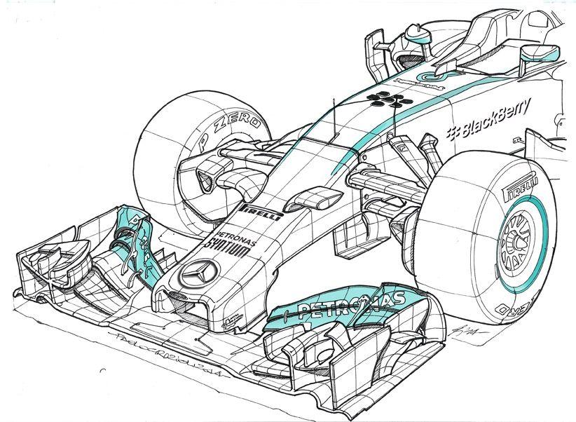 Mercedes W05 Hybrid F1 World Champion 2015 Dibujos De Autos Coches Y Motocicletas Carros Y Motos