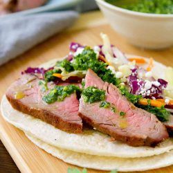 Grilled Chimichurri Steak Tacos - Healthy Taco Tuesday Recipe