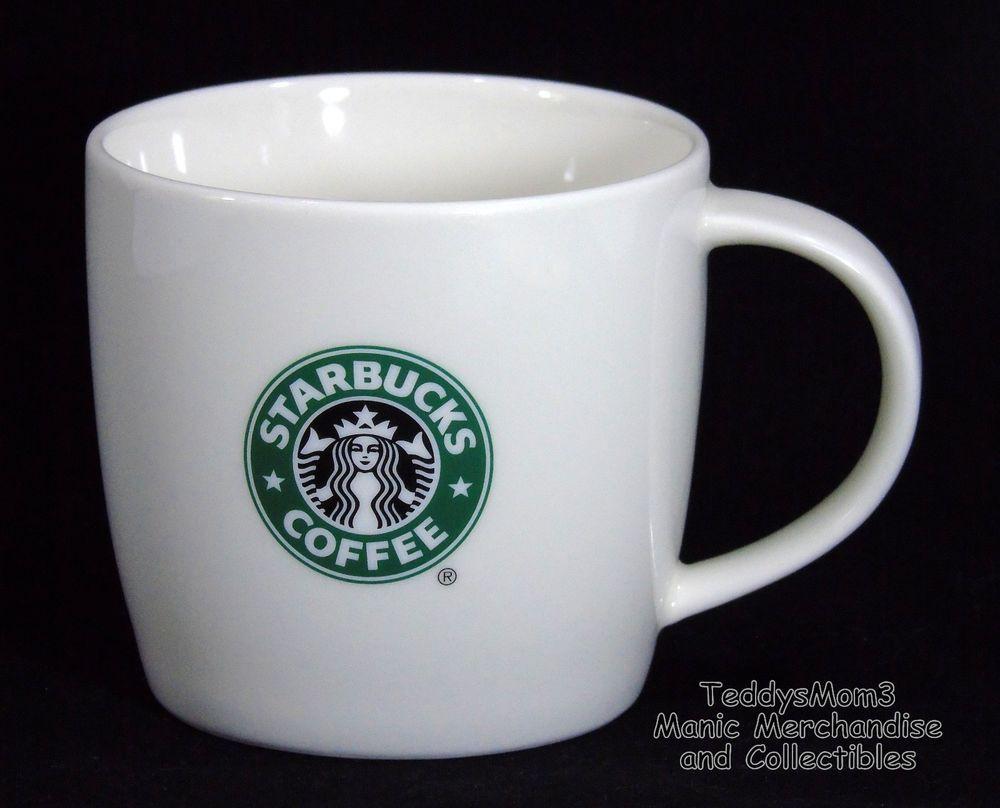 Details About Starbucks Coffee White Cup Mug Green Mermaid