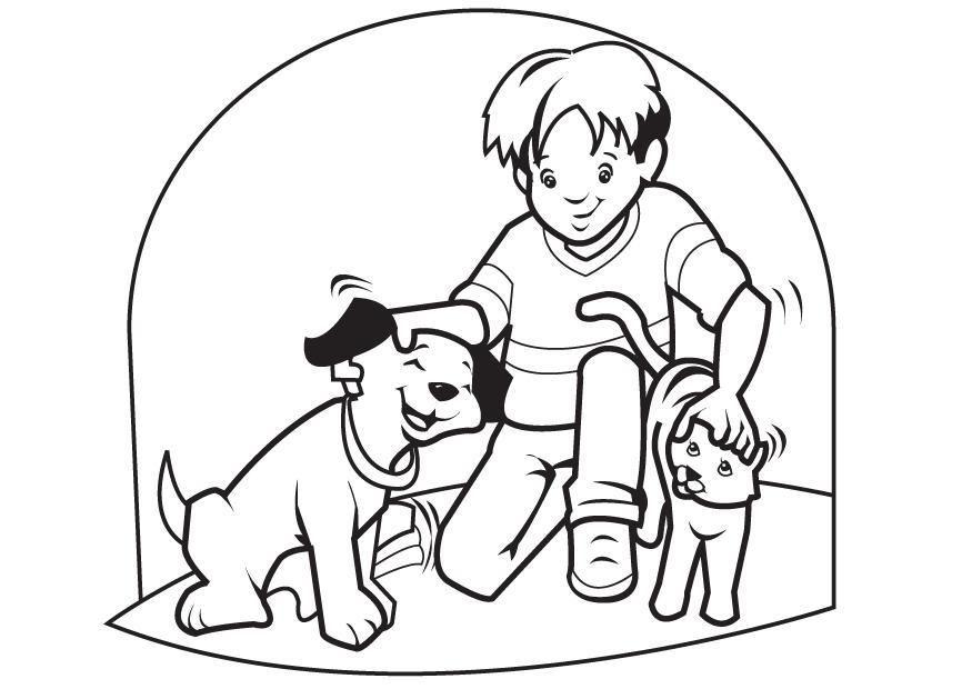 Dibujo para colorear Mascotas perro y gato - Img 7096 | fichas ...
