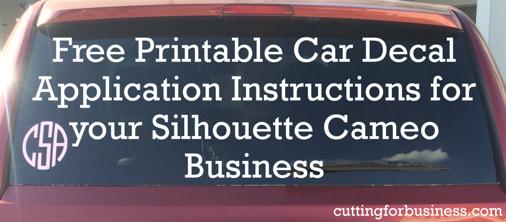 Free Printable Car Decal Instructions For Your Silhouette