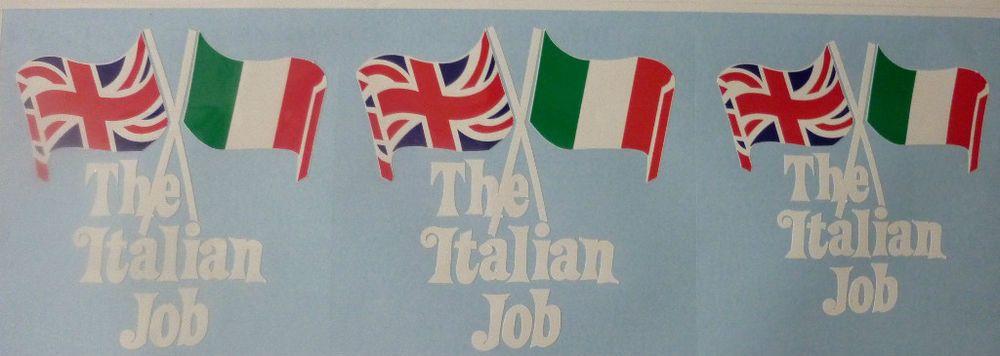 Italian job graphicsstickers 3 off uk supplier graphic
