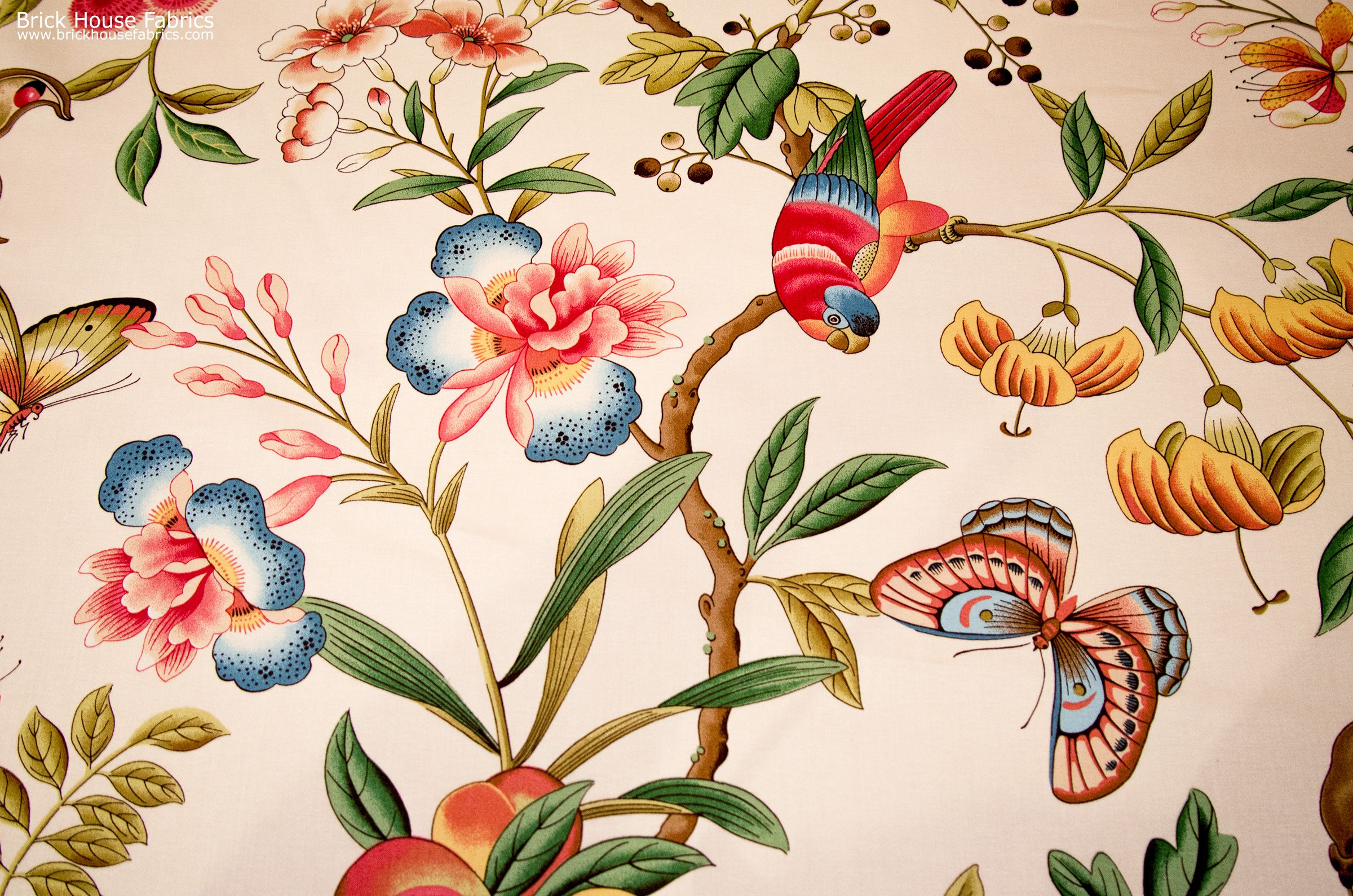 A tropical parrot fabric - great for my chair project