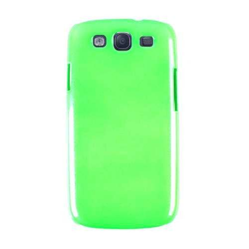 Cell Armor Hybrid Fit On Case for Samsung Galaxy S3 (Rainbow Glitter, Green)