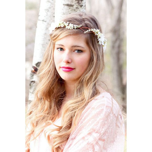 Bridal Flower hair, wedding accessories, wedding headpiece, Headband,... ($48) ❤ liked on Polyvore