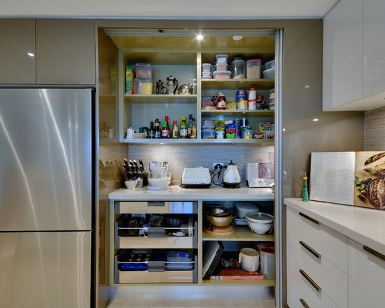 Roll Up Door Pantry Kitchen