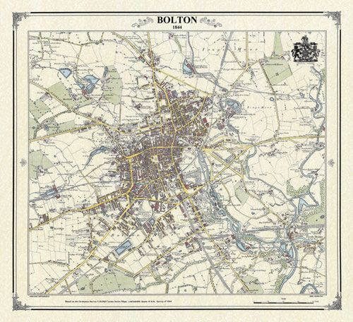 Bolton England Victorian map MY CHILDhood Pinterest Childhood