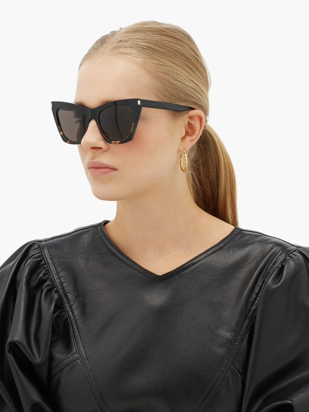 Kate round tortoiseshell-acetate sunglasses	 | Saint Laurent | MATCHESFASHION UK
