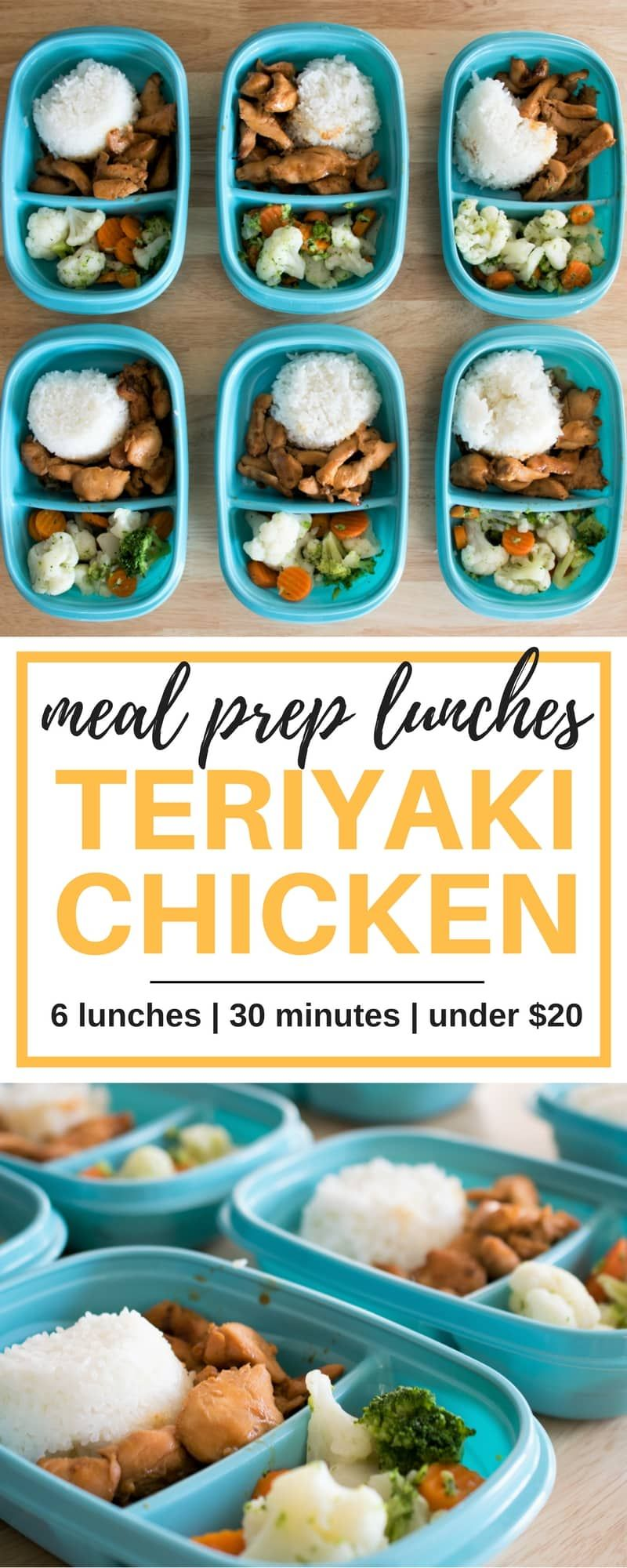 Meal Prep Lunches - Teriyaki Chicken images