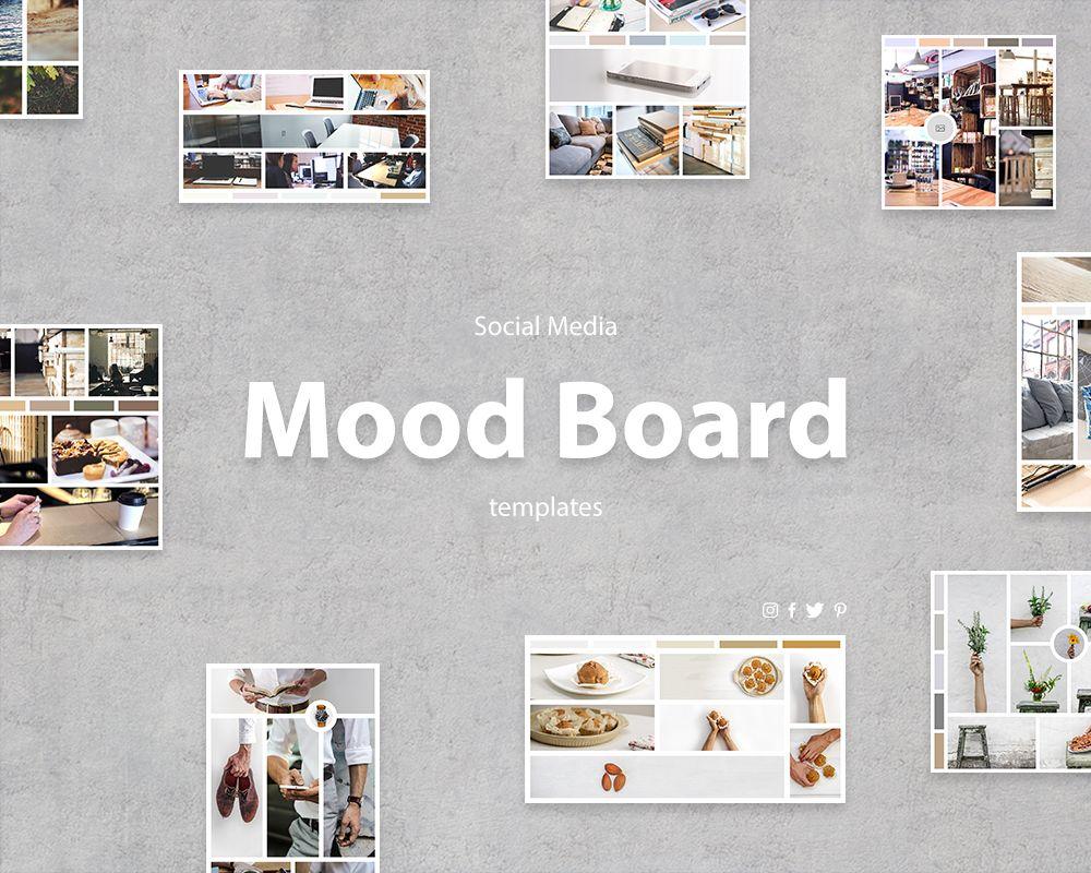 Social Media Mood Board Templates Visual Hierarchy Mood Board Template Social Media Visual Hierarchy