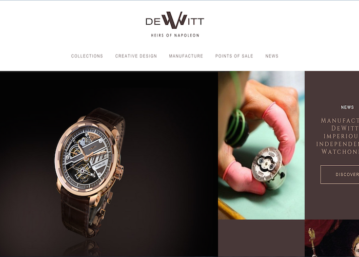 Dewitt - The Dewitt manufacture website creates a sophisticated ...