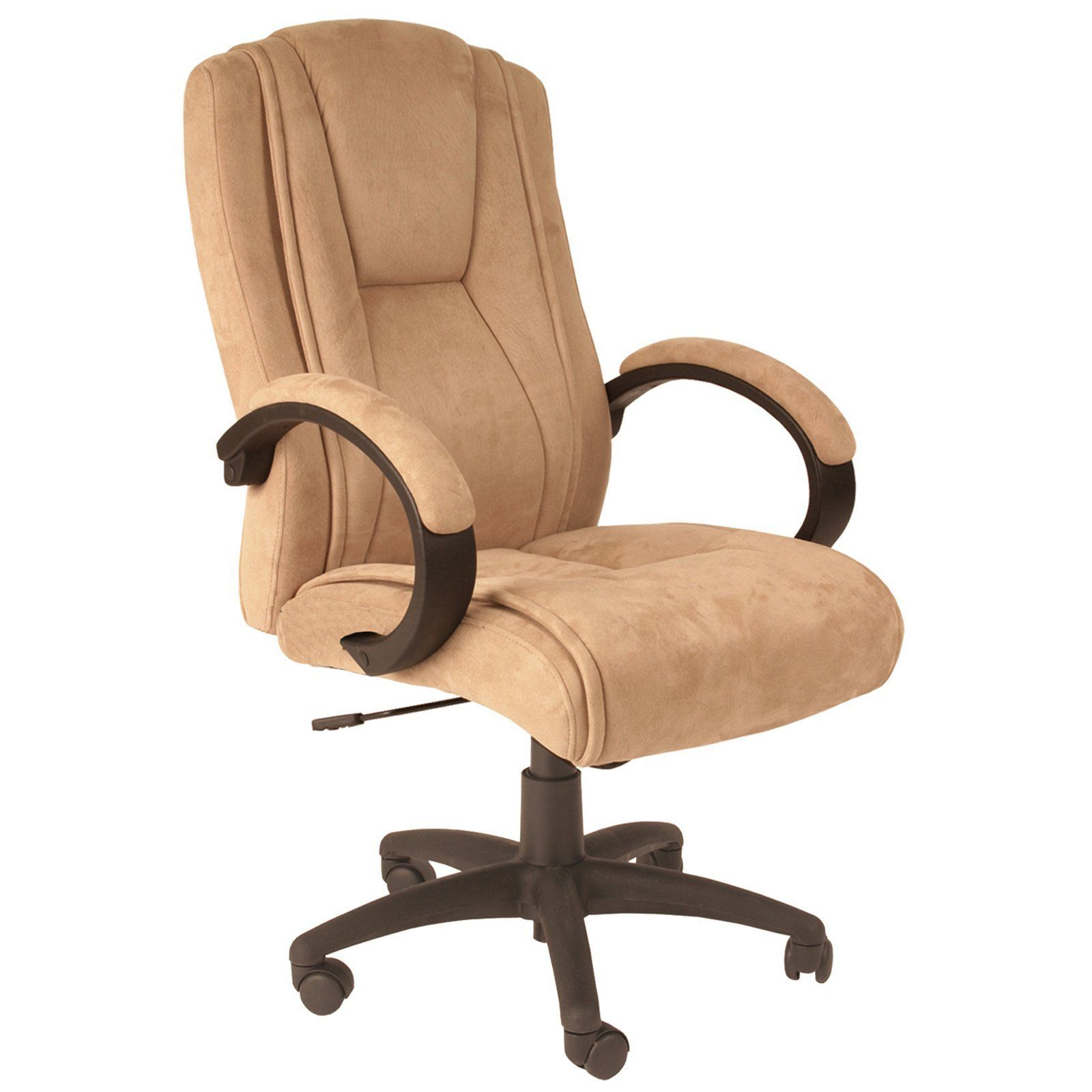Comfort Products Padded Faux Suede Executive Chair Beige