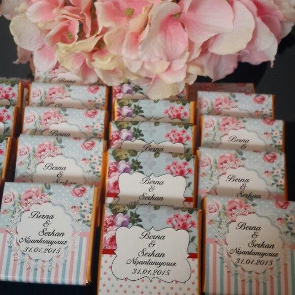 Söz  nişan  cikolatalari -Engagement Chocolate
