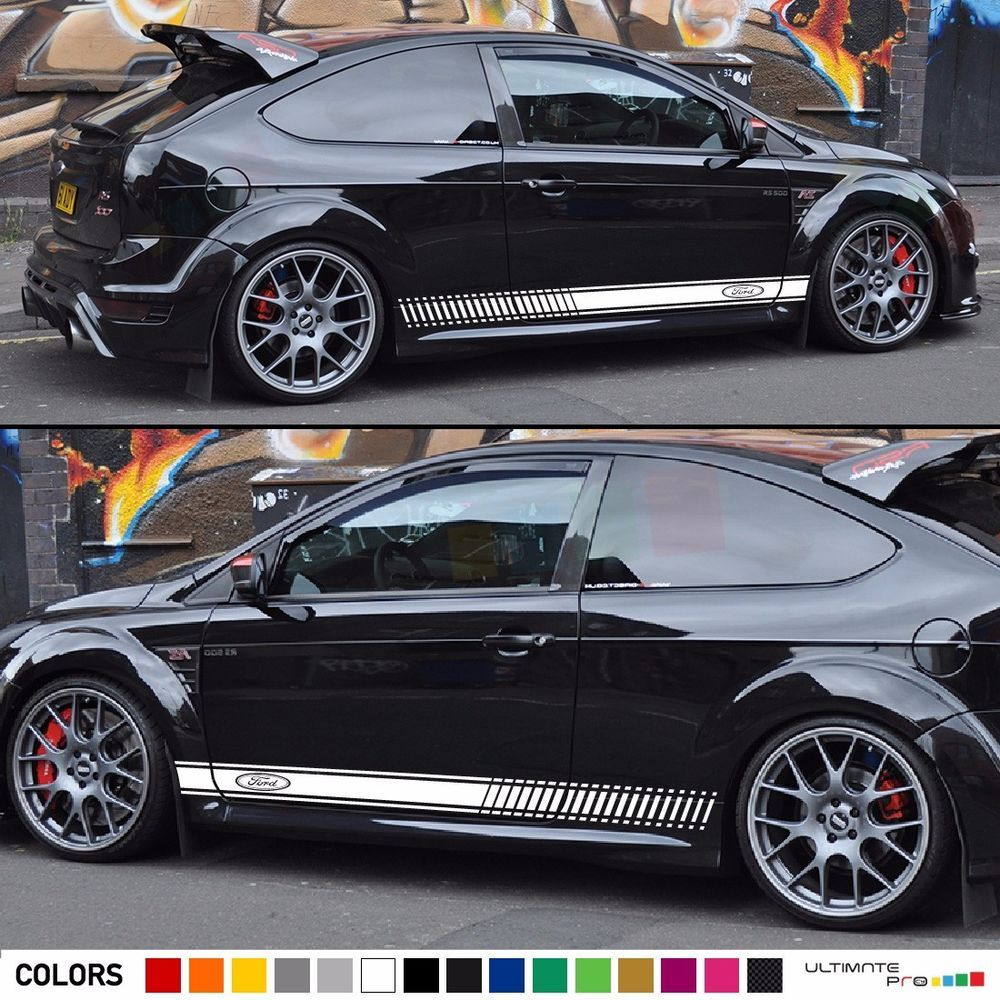 Decal Sticker Graphic Stripe Kit For Ford Focus Rs Trim Light Lamp