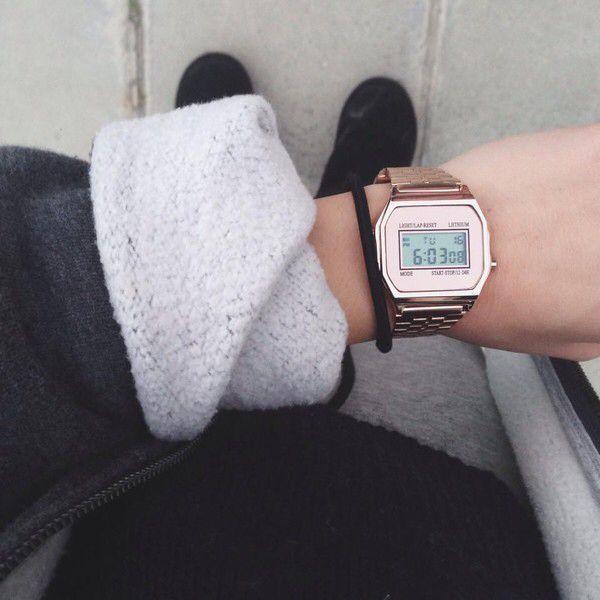 5fc47a9ddb1 Casio Rose Gold Watch♡
