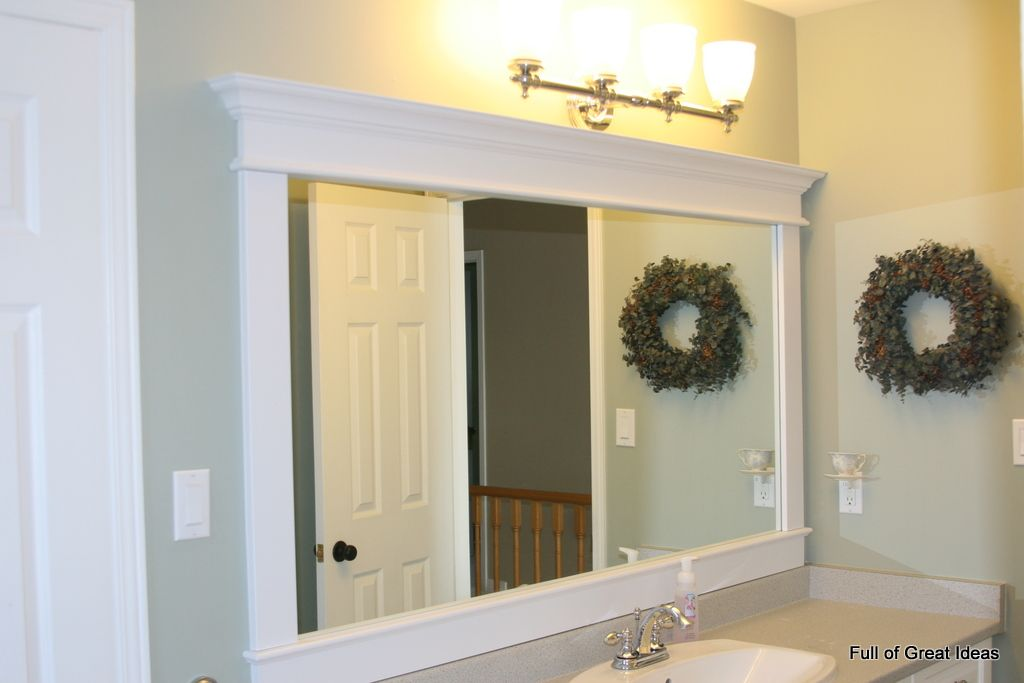 Framing A Builder Grade Mirror That Is Not Between Two Walls