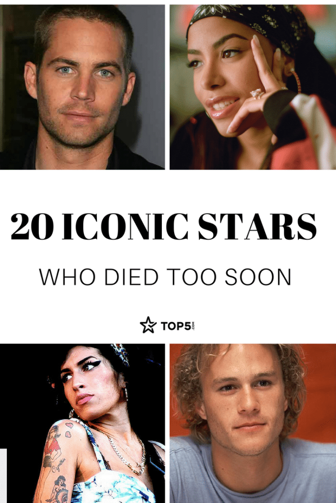 Only The Good Die Young 30 Iconic Stars Who Left Us Way Too Soon Celebrities Who Died Celebrity News Gossip Die Young