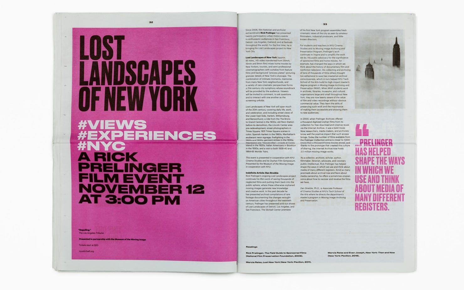 Pentagram Identity For Nyu Skirball Parsons School Of Design Michael Bierut Manhattan Art
